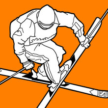 Dibujo para colorear : Esquiador freestyle