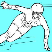 Dibujo para colorear : Patinador de velocidad de pista corta