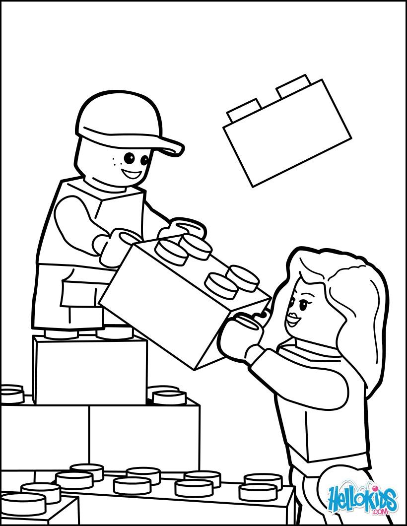 Dibujos Para Colorear Construyendo Con Lego Eshellokidscom