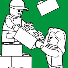 Dibujo para colorear : Construyendo con lego