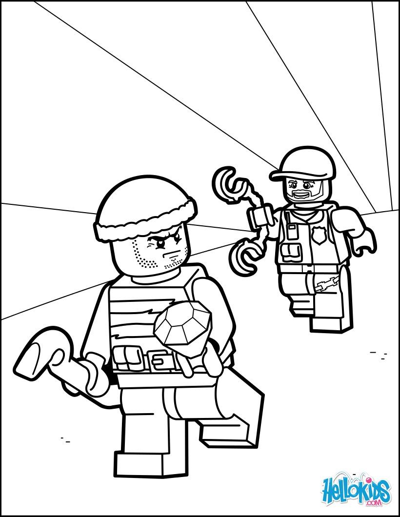 Atractivo La Policía De La Ciudad De Lego Para Colorear Motivo ...