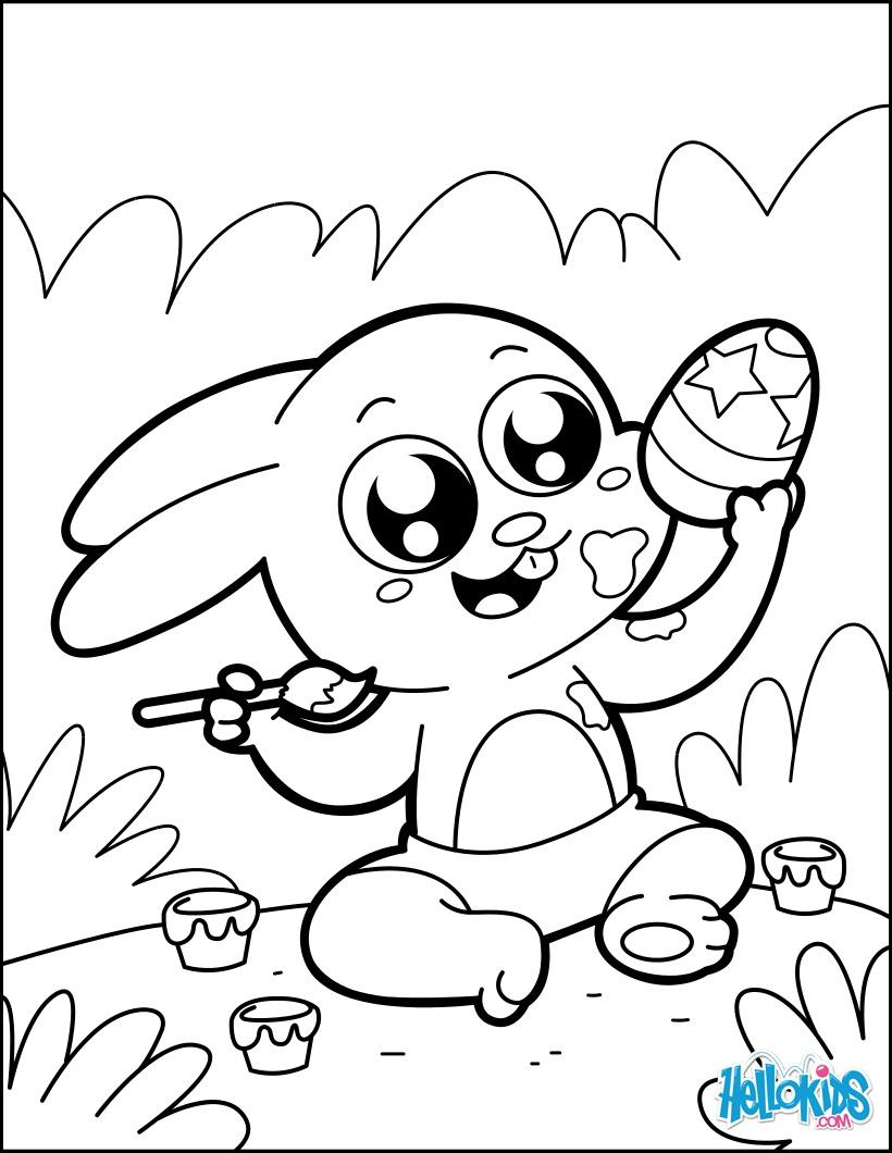 Vistoso Colorear Conejito Imágenes - Dibujos Para Colorear En Línea ...