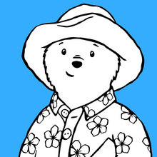 Dibujo para colorear : Paddington usa su pijama