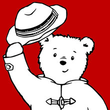 Dibujo para colorear : Paddington salue son public