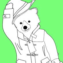 Dibujo para colorear : El atuendo de Paddington