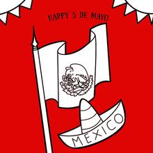 Dibujo para colorear : Flag