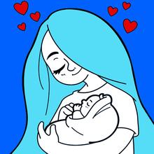 Dibujo para colorear : día de la madre: CORAZON