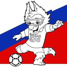 Dibujo para colorear : Copa Mundial de Fútbol 2018 2