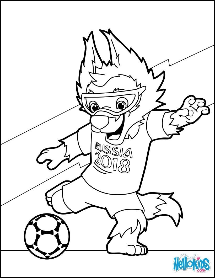 Dibujos Para Colorear Copa Mundial De Fútbol 2018 2 Es