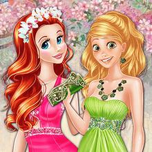 Juego para niños : Colors of Spring Princess Gowns