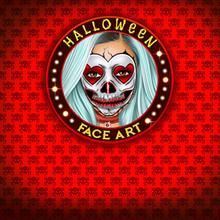 Juego para niños : Models Halloween Face Art