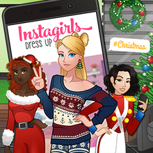 Juego para niños : Instagirls Christmas Dress Up