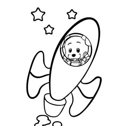Cohete para colorear pictures to pin on pinterest tattooskid - Dibujos infantiles del espacio ...