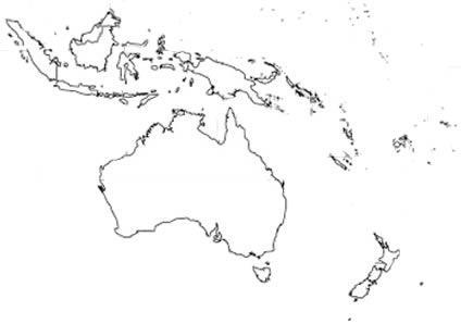 Mapa de oceania sin nombre - Imagui