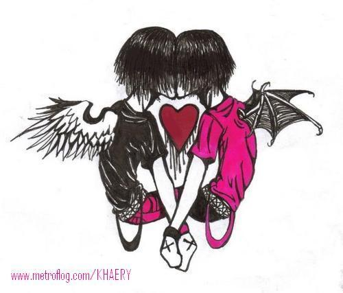 imagenes de amor de emos. el amor emo. emo hasta el