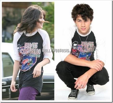 Nick Jonas Selena Gomez on Selena Gomez Con La Misma Camiseta De Nick Jonas
