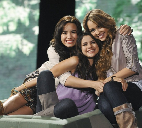 selena gomez and demi lovato and miley cyrus. selena gomez and demi lovato