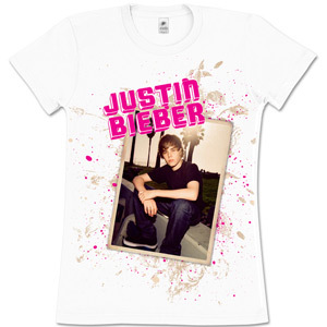 Justin Bieber Bench Girls' White T-Shirt