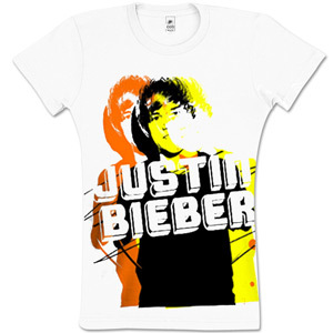 Justin Bieber Yellow Photo Tee