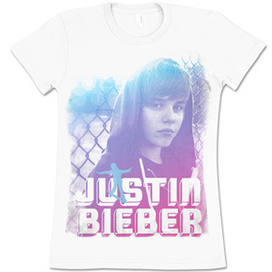 Justin Bieber On Da Bench Girlie Tee