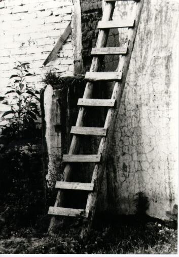 Una escalera de mano