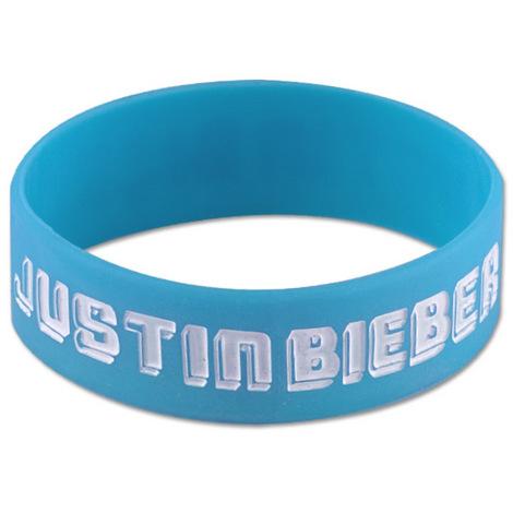 Justin Bieber Blue Logo Rubber Bracelet