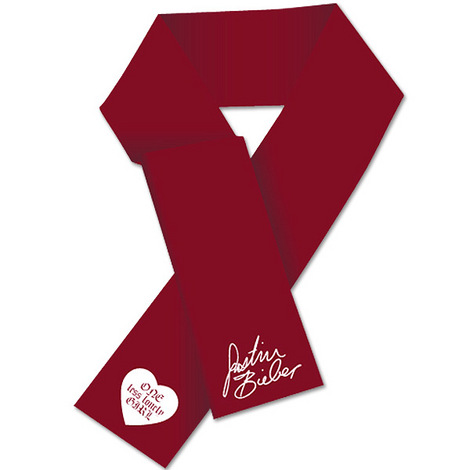 Justin Bieber Lonely Girl Cranberry Scarf