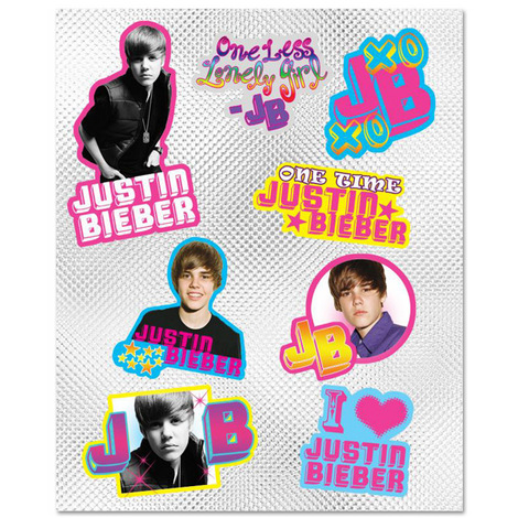 Justin Bieber Sticker Set