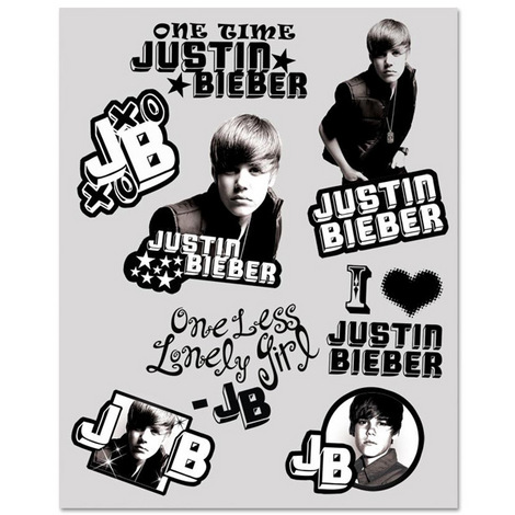 Justin Bieber Tattoo Set