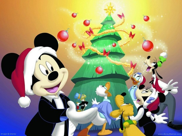 Fondo de Navidad MICKEY