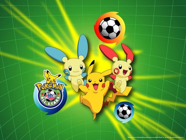POKEMON: fondo Pikachu fútbol