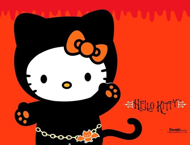Fondo hello kitty halloween