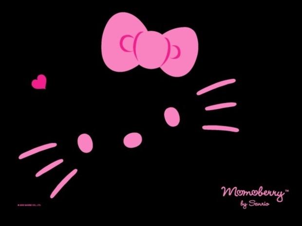 Fondos de escritorio Hello Kitty - Fondo hello kitty negro y rosa