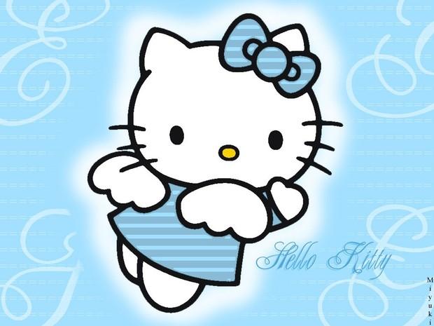Fondo hello kitty ángel