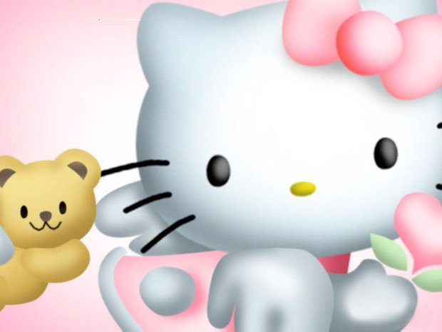 Fondo hello kitty osito