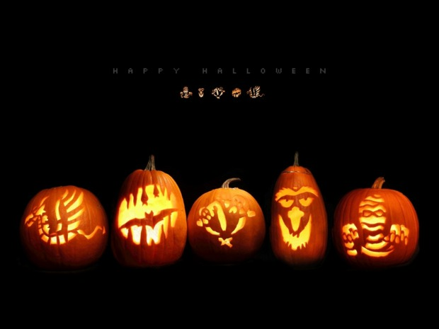 Fondo halloween calabazas