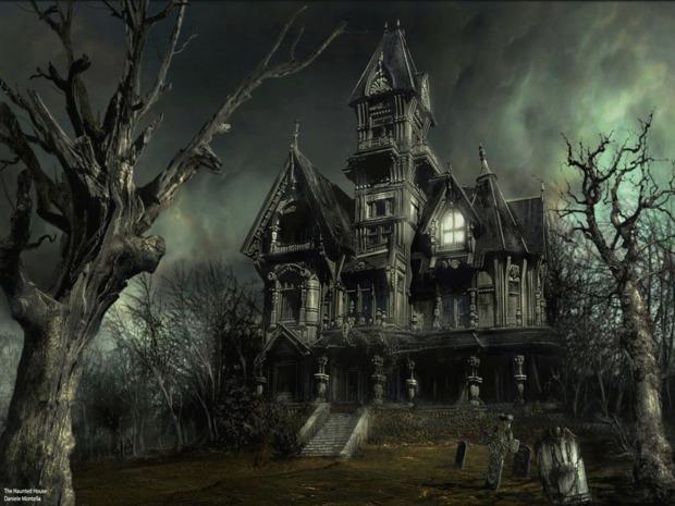 Fondo halloween casa encantada