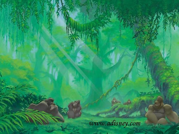 Tarzán, los gorilas