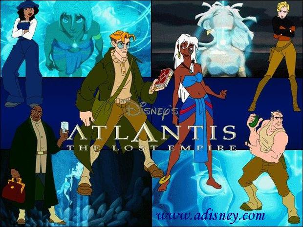 Los personajes de Atlantis