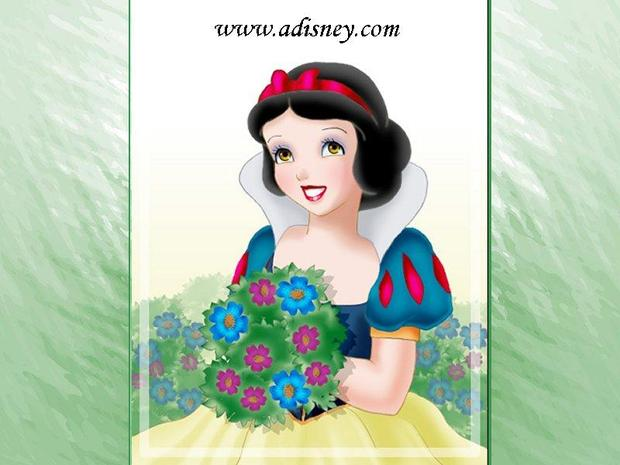 Blancanieves con flores