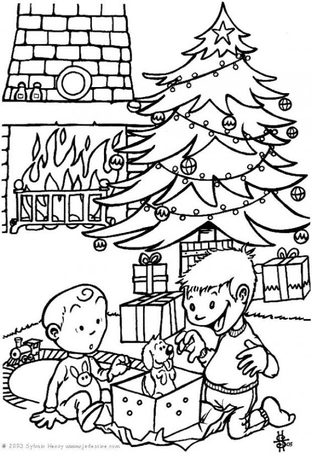 Dibujos para colorear los regalos - Dibujos navidenos para imprimir y colorear ...