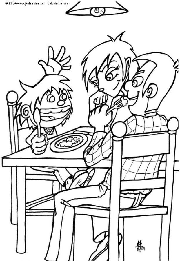 dibujo de un nino con varios alimentos para preparar conservas