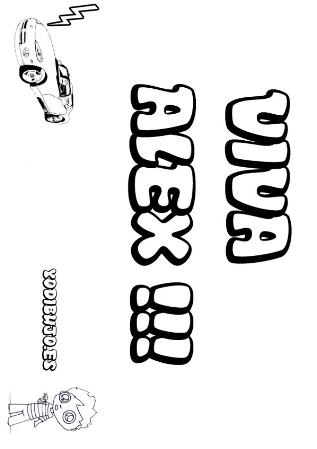 Dibujos para colorear alex - Nombres de ninos para colorear ...