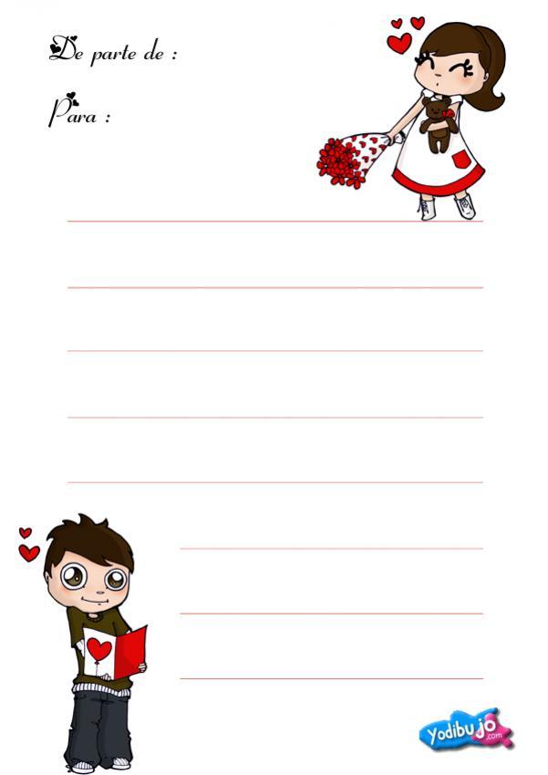 Sobres y papel de carta combinados - Amor sincero