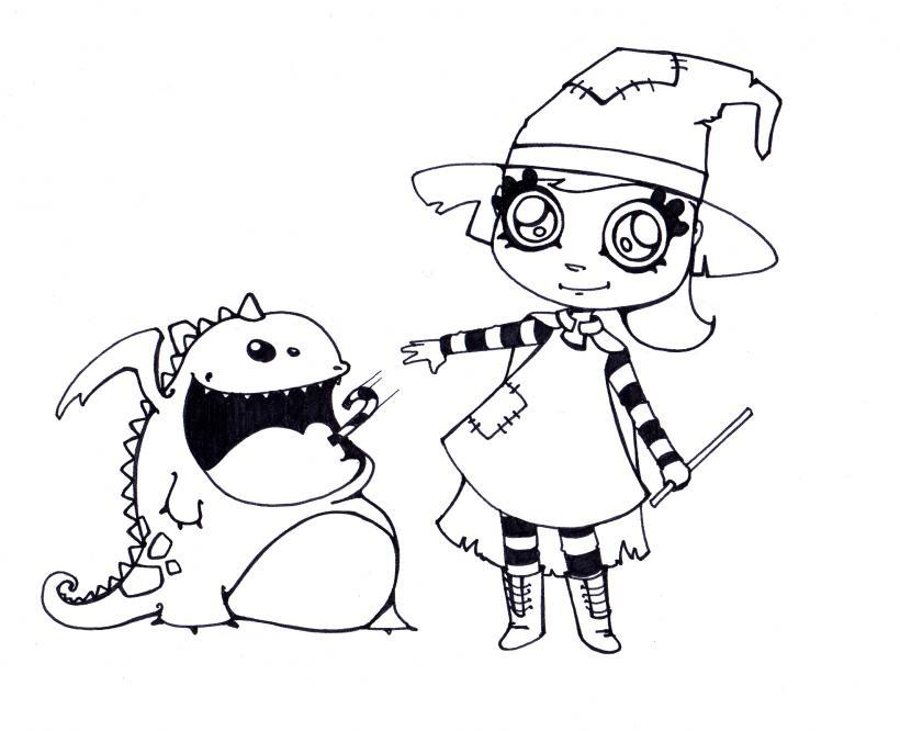 Dibujos para colorear chuches y mascota   es.hellokids.com