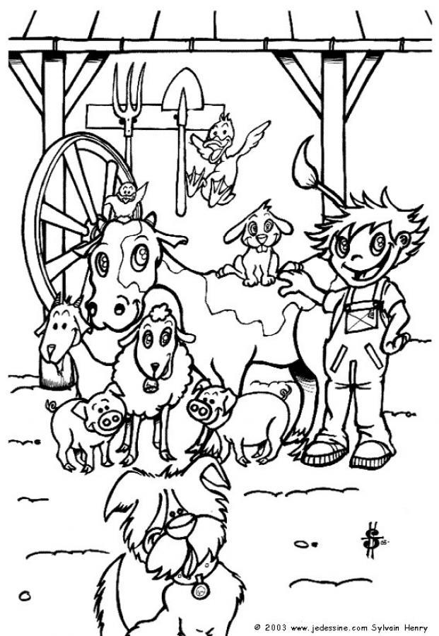 Dibujos para colorear el corral - es.hellokids.com