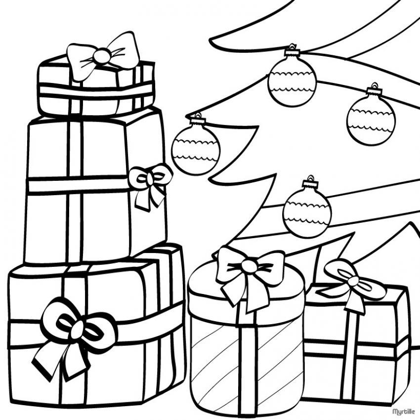 Dibujos para colorear sorpresas al pie del Árbol - es.hellokids.com