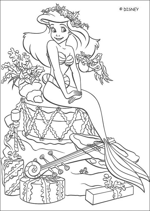 Dibujos para colorear la sirenita para imprimir - es.hellokids.com