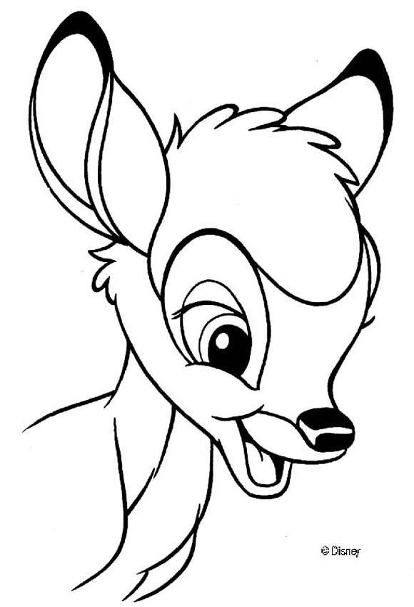 Dibujos para colorear bambi 86 - es.hellokids.com