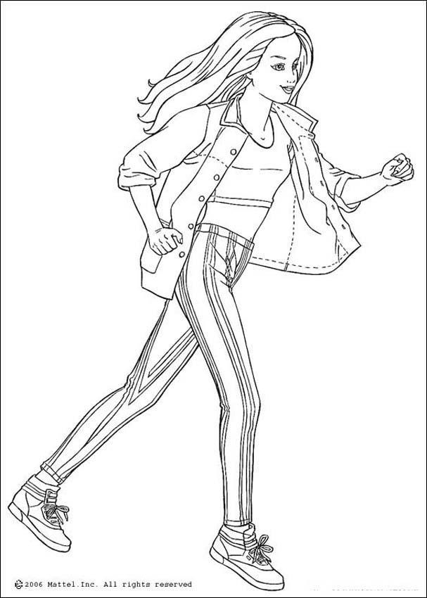 ofrecemos los más bonitos dibujos para pintar. El Barbie corriendo ...